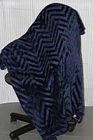 Покривало веобровое Євро розміру Koloco синього кольору