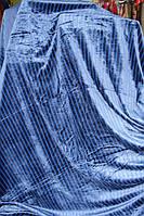 Покрывало велюровое в полосочку KOLOCO Blue