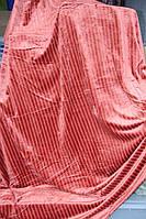 Покрывало велюровое в полосочку KOLOCO разные цвета