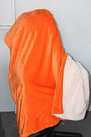 Велюровое утеплённое покрывало KOLOCO оранж