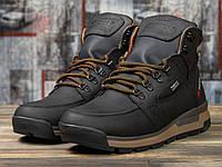 Мужские зимние ботинки на меху в стиле Diesel Denim Division, натуральная кожа, черные*** 44 (28,8 см)