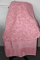 Махровое покрывало двуспального размера розовое
