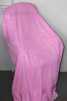 Махровое покрывало двуспального стандарта розовое
