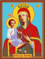 Схема для вышивки Икона Пресвятой Богородицы Троеручица
