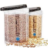 Контейнер пищевой, для сыпучих продуктов, с резьбой, 2шт/упак., NP-85ч