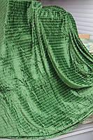 """Бамбуковое покрывало Евро размера """"Koloco"""" зеленое"""