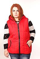 Яркий утепленный жилет женский стеганный 2015. 50-62 размер