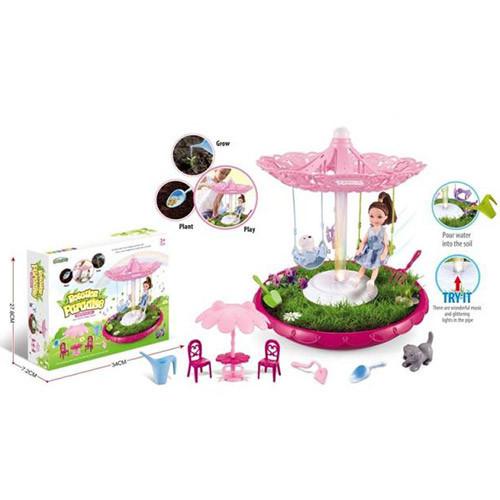 Кукла, качель, фигурки, огород, мебель, музыка, свет, BK1807