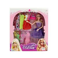 Кукла с нарядом, шарнирная, платье, сумочка, микс видов, 630B2