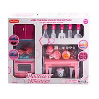 Мебель для кукол Кухня, стол, стулья, продукты, посуда, звук, свет, X221L7