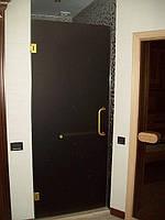 Двери в душ стеклянные стекло бронза сатин