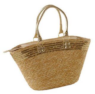Интересная летняя сумка-корзина Podium 6915 natural, естественный