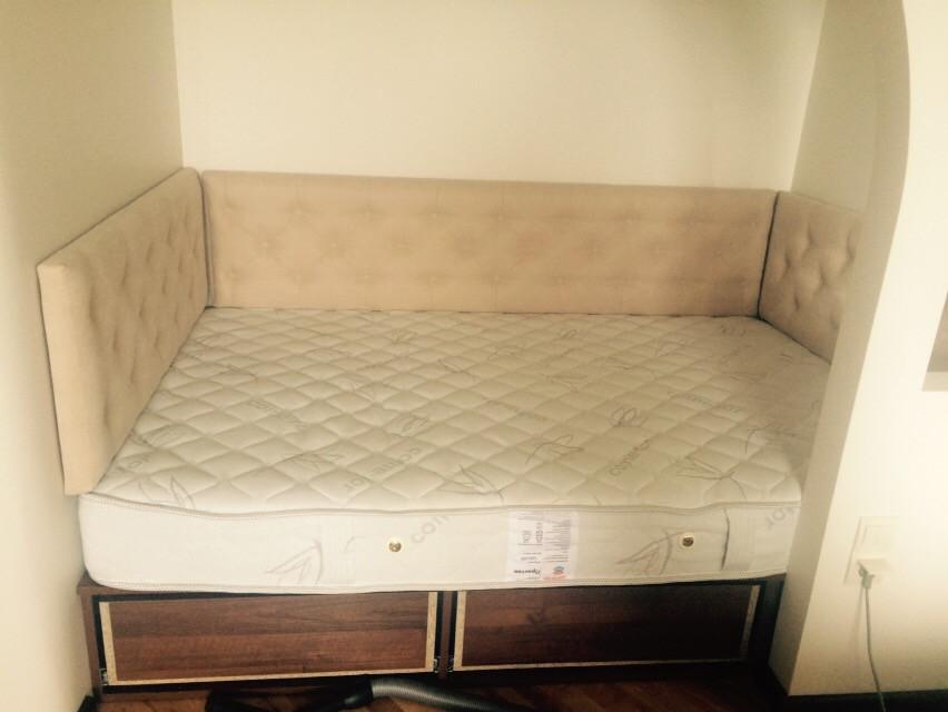 М'які панелі для ліжка в нішу 2