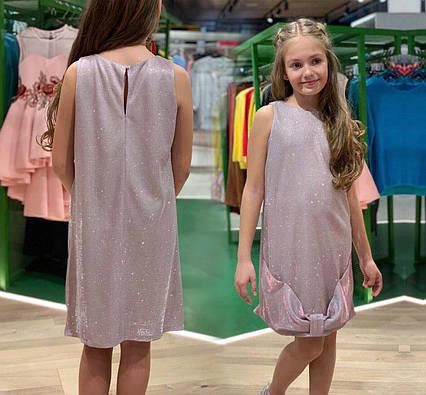 """Детское нарядное стильное платье 6-6 """"Люрекс Бант"""""""