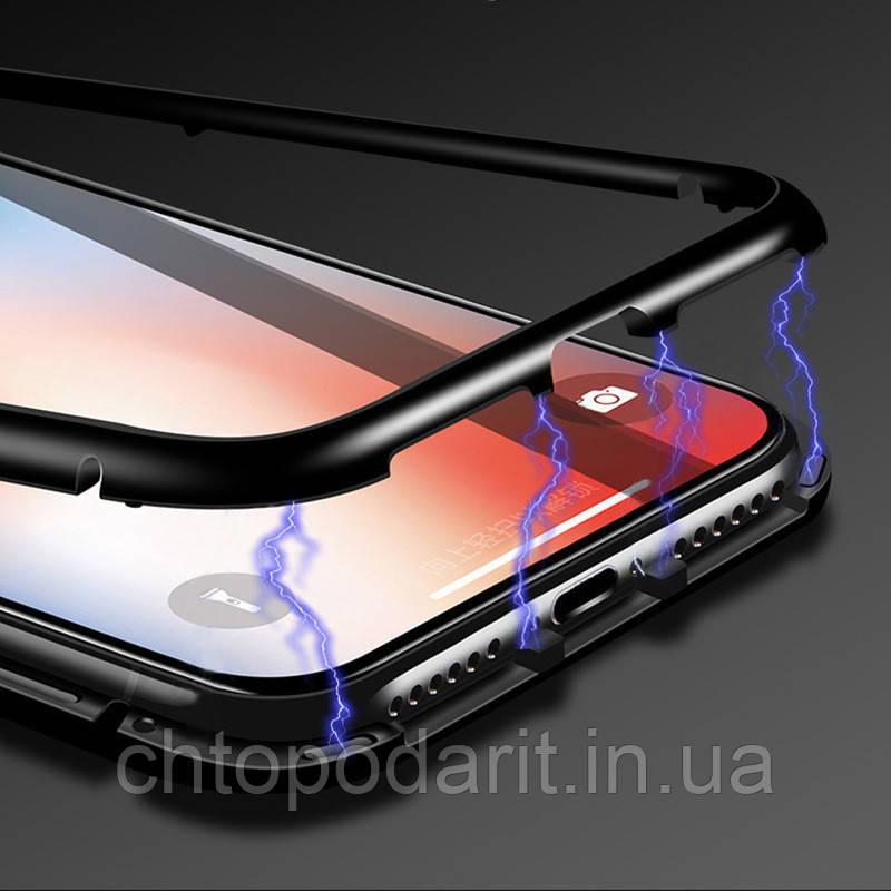 Магнитный чехол на Iphone iphone X/10, Xs, Xs черный Max черный Код 10-1895