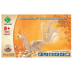 Конструктор Дерев'яні пазли, 3D Жар-птиця, 66 деталей, M033