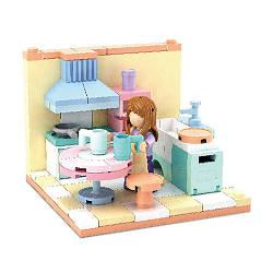 Конструктор SLUBAN Кухня, фигурка, 108 деталей, M38-B0757A