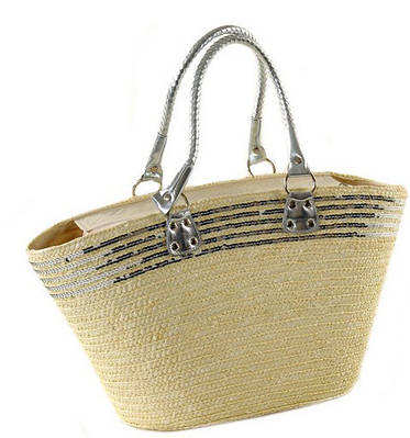 Стильная летняя сумка-корзина Podium 6915 white, белый
