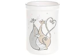 Подставка для кухонных принадлежностей керамическая Веселая семейка кошачьих (26см), DM538-Q
