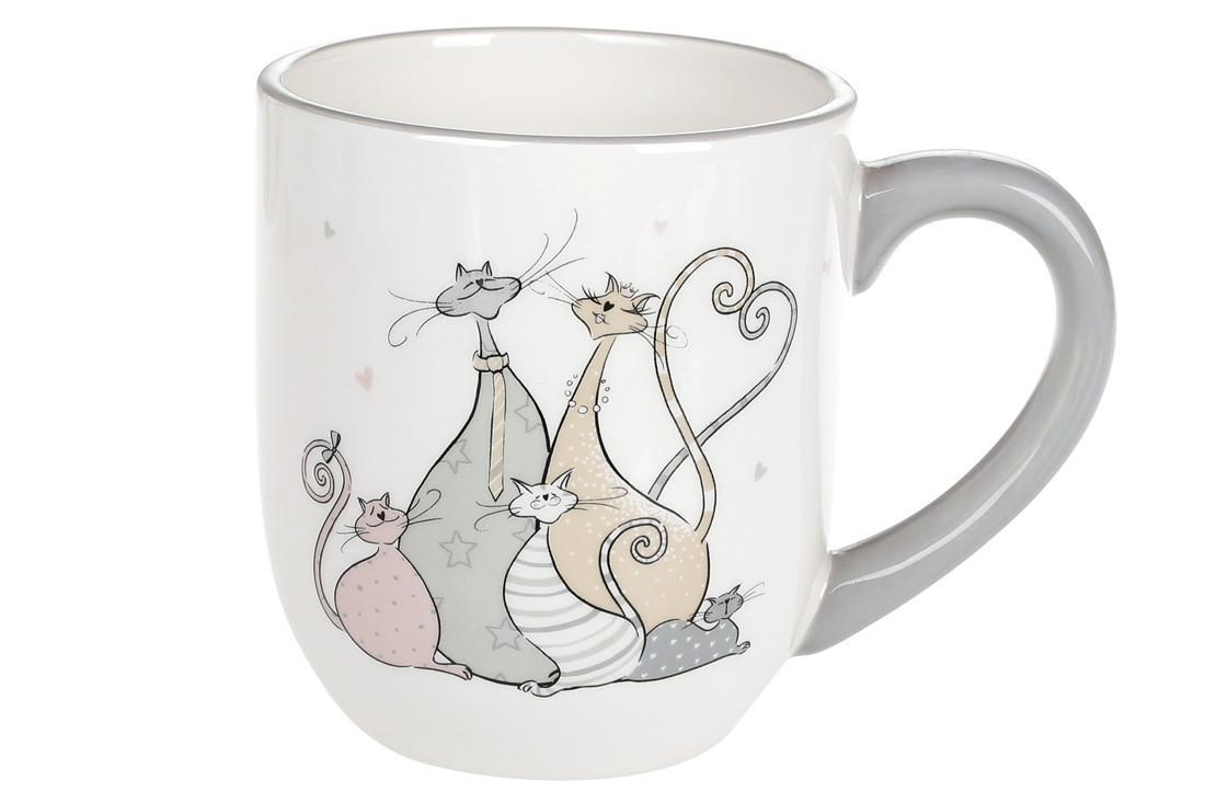 Кружка керамическая Веселая семейка кошачьих (500 мл), DM558-Q