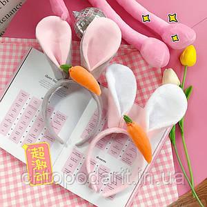 Обруч для волос с ушками зайца Код 10-2927