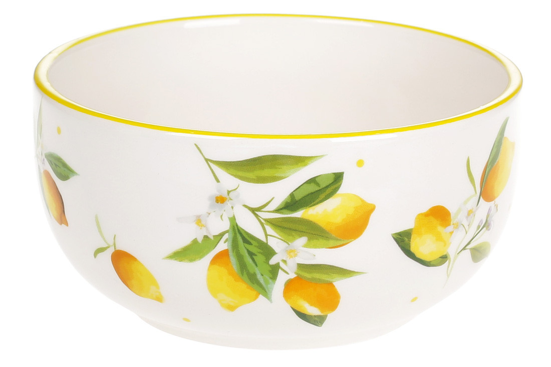 Пиала керамическая 600мл Сочные лимоны, DM045-Y