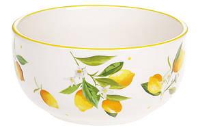 Пиала керамическая 600мл Сочные лимоны, DM045-Y, фото 2