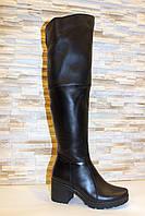 Сапоги ботфорты женские зимние натуральная кожа С826, фото 1