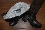 Сапоги ботфорты женские зимние натуральная кожа С826, фото 3