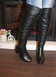 Сапоги ботфорты женские зимние натуральная кожа С826, фото 4