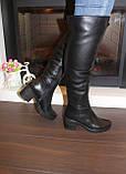 Сапоги ботфорты женские зимние натуральная кожа С826, фото 6