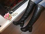 Сапоги ботфорты женские зимние натуральная кожа С826, фото 7