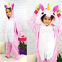 Пижама Кигуруми для девочки Розовый Единорог, Рост 110