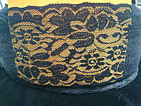 Кружево стрейч гипюр 10см черное (103)
