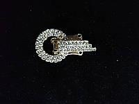 Декоративная застёжка для одежды (уп 50 шт) золото