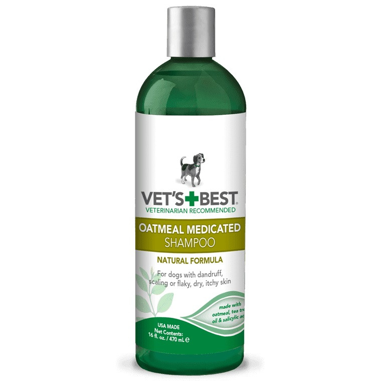 Шампунь лечебный для собак от перхоти, шелушения, для сухой кожи Vet's Best Oatmeal Medicated Shampoo 470 мл