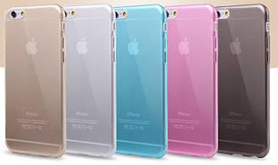 Силиконовый чехол для iPhone 6 6S Plus супертонкий 0.3 мм