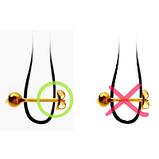 Серьги медицинская сталь, цвет Аметист, 3мм, фото 3