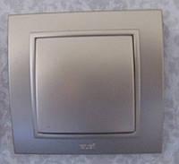 Выключатель одноклавишный ABB El-bi ZENA модуль серебро (металлик), Турция