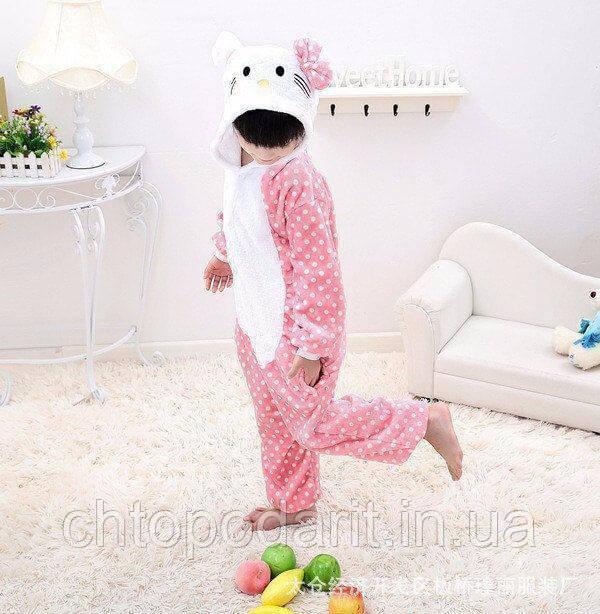 "Пижама Кигуруми детский   ""Hello Kity"" Код 10-4066"