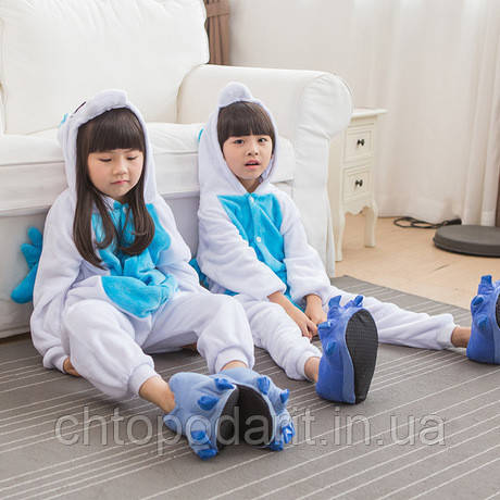 "Пижама Кигуруми детский   ""Единорог голубой с крыльями"" Код 10-4069"
