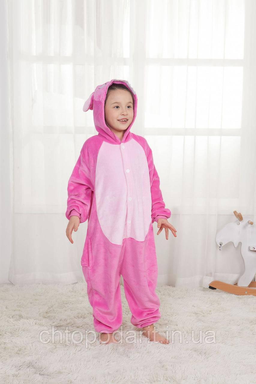"Пижама Кигуруми детский  Lilo & Stitch  ""Ангел"" Код 10-4131"