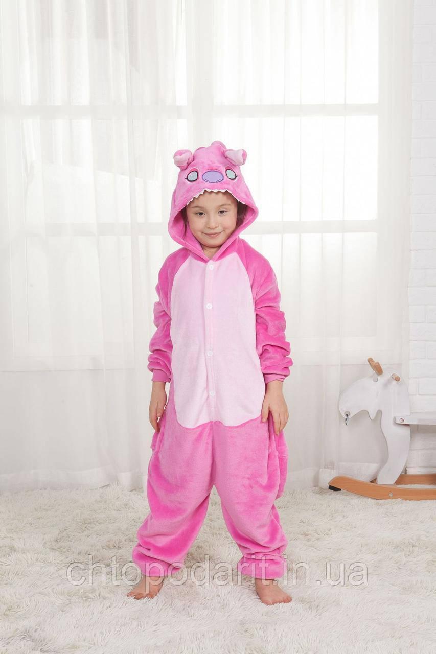 "Пижама Кигуруми детский  Lilo & Stitch  ""Ангел"" Код 10-4132"