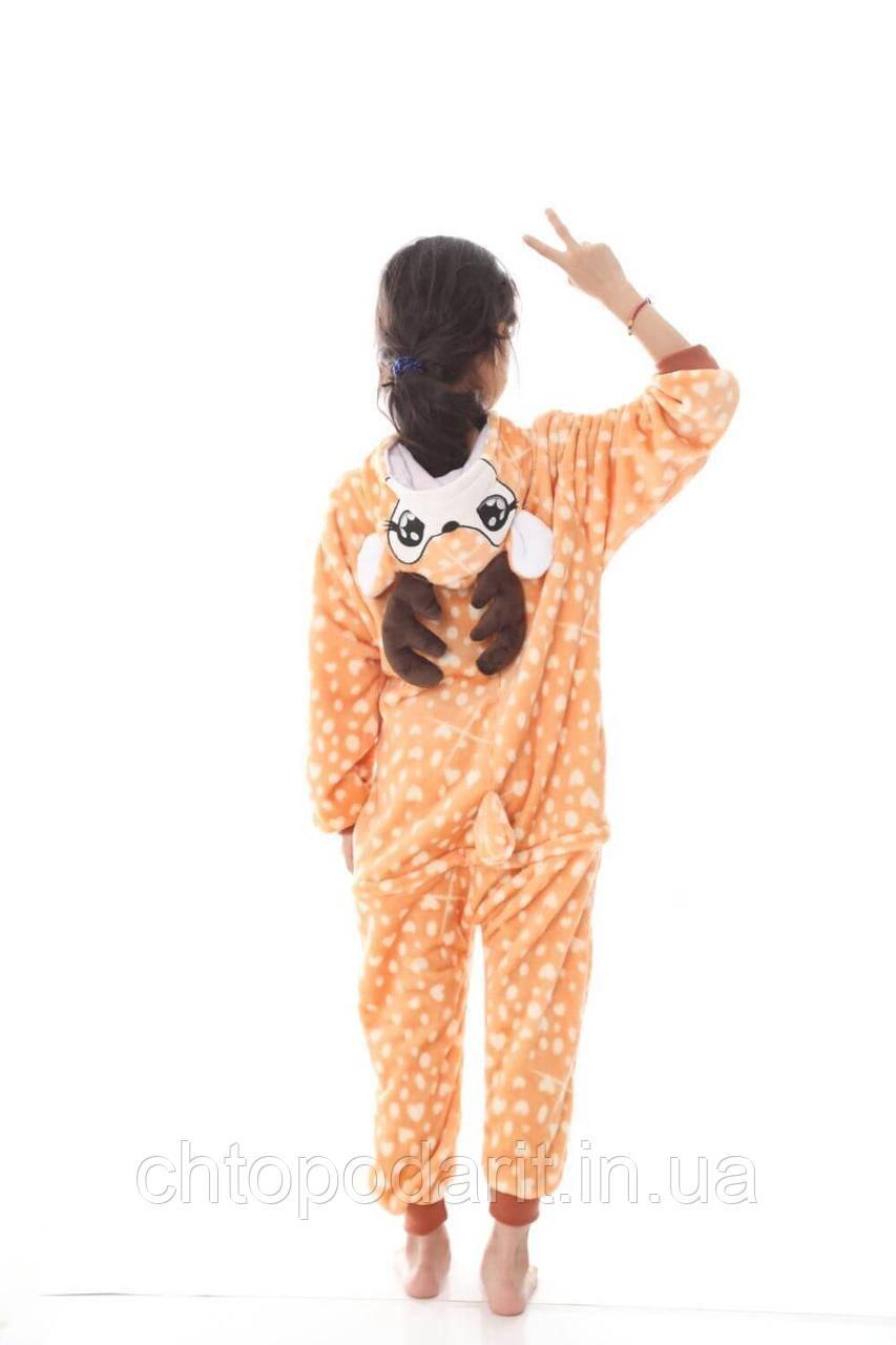 """Пижама Кигуруми детский """"Бэмби"""" Код 10-4137"""