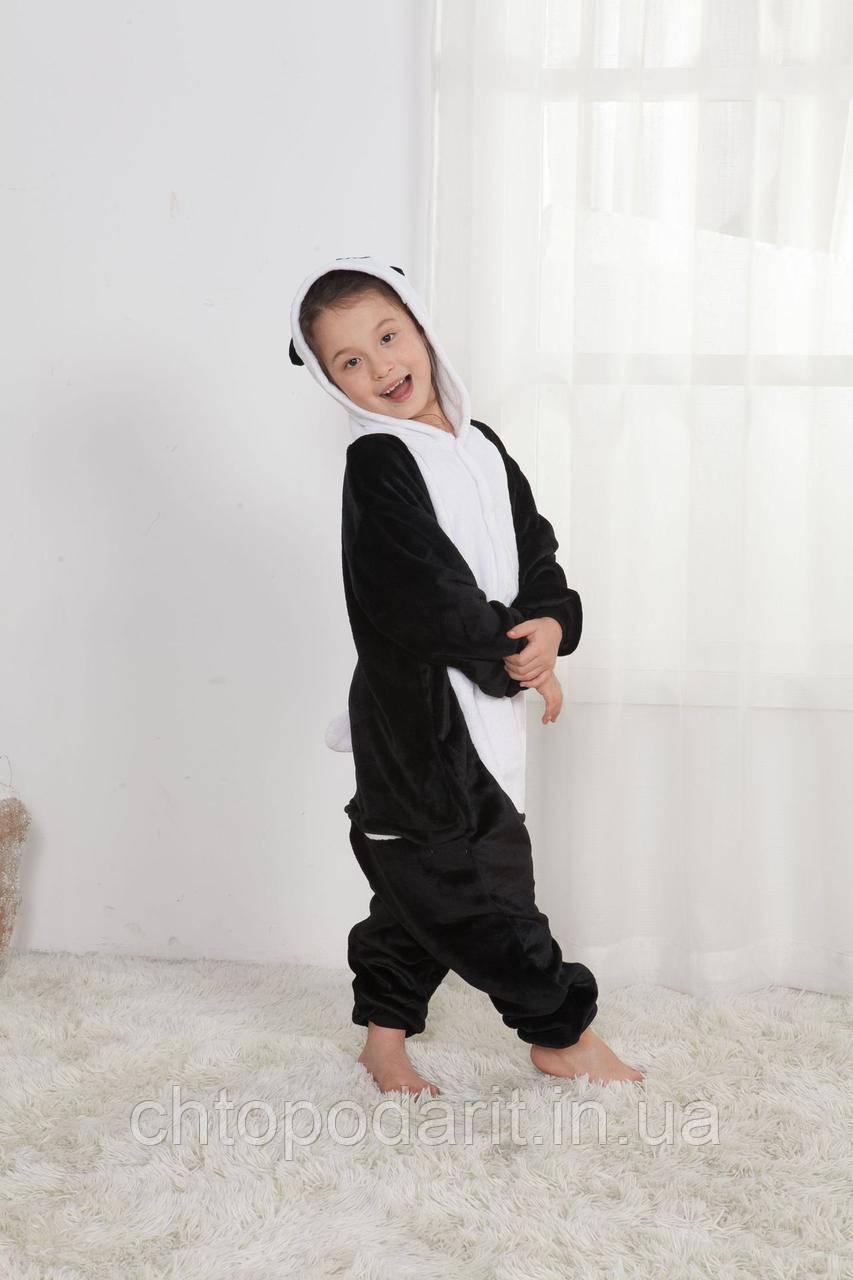 "Пижама Кигуруми детский ""Панда"" черный окрас Код 10-4163"