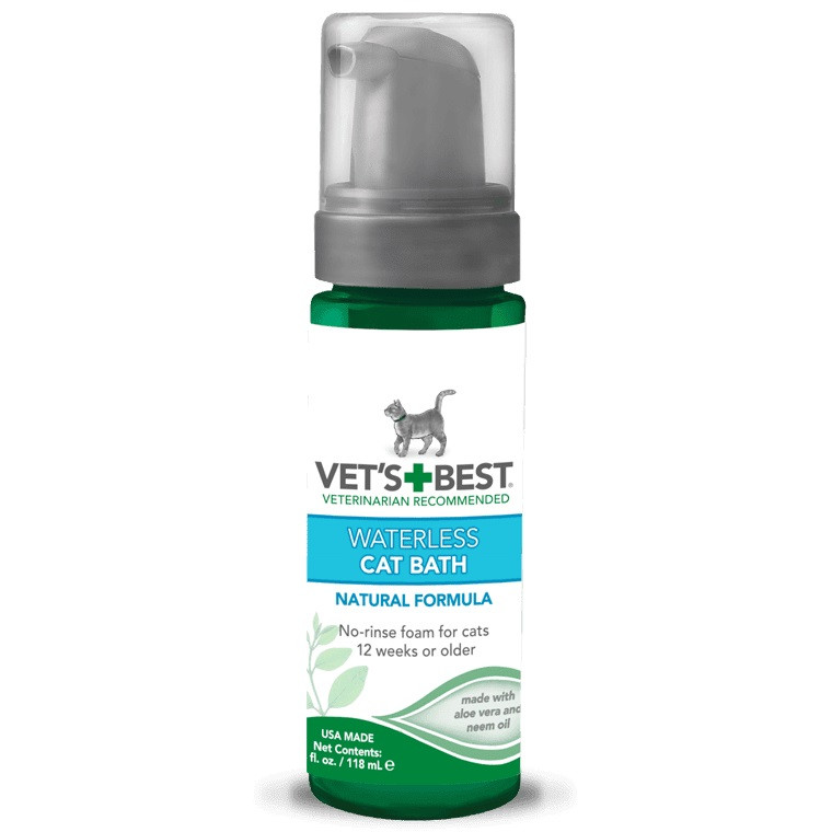 Миюча піна для кішок для експрес чищення без води Vet's Best Waterless Cat Bath 118 мл