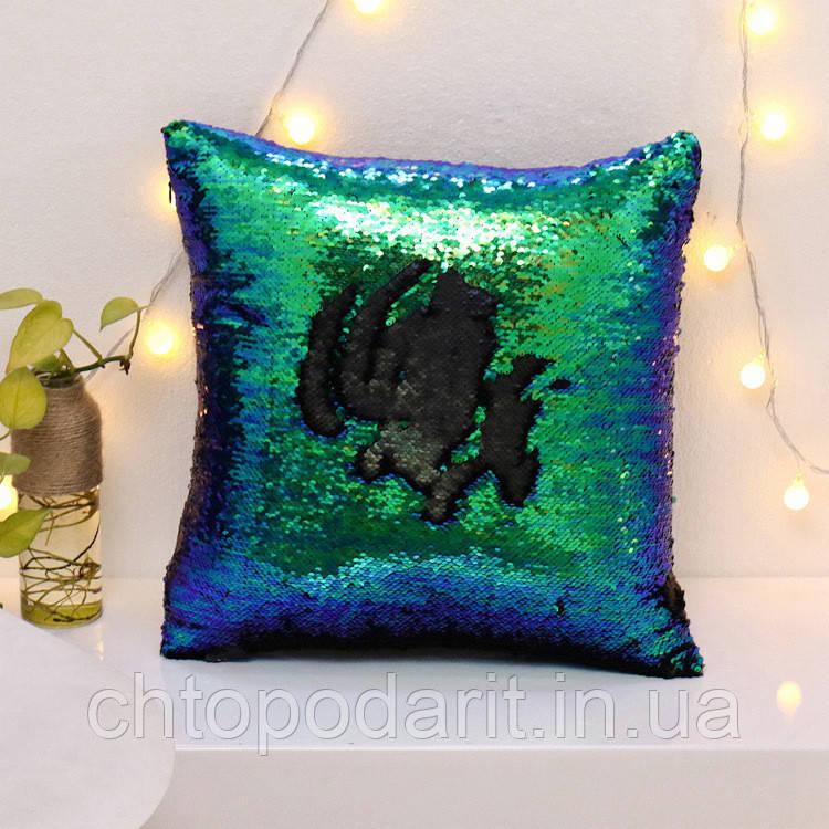 Подушка с пайетками Код 10-4299