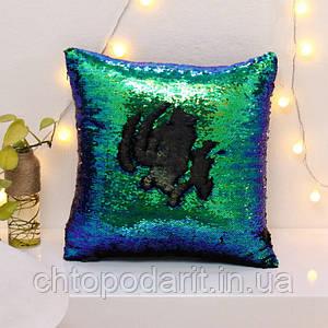 Подушка з паєтками Код 10-4299