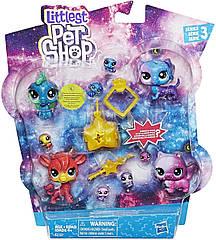 Лител пет шоп Набор Петов Космическая коллекция Оригинал Hasbro Littlest Pet Shop Cosmic Pounce
