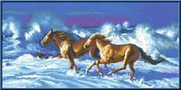 """Схема для вышивки крестом """"Резвые кони"""""""